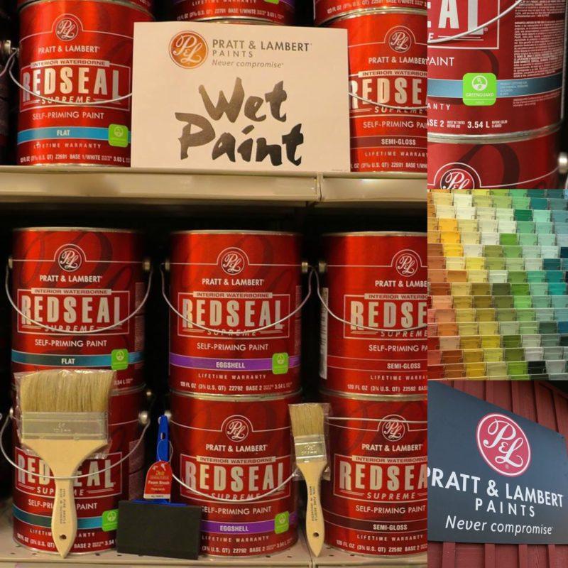 pratt lambert red seal paint is in the house roe lumber